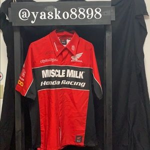 Men's Muscle Milk -Honda racing shirt. Autographed